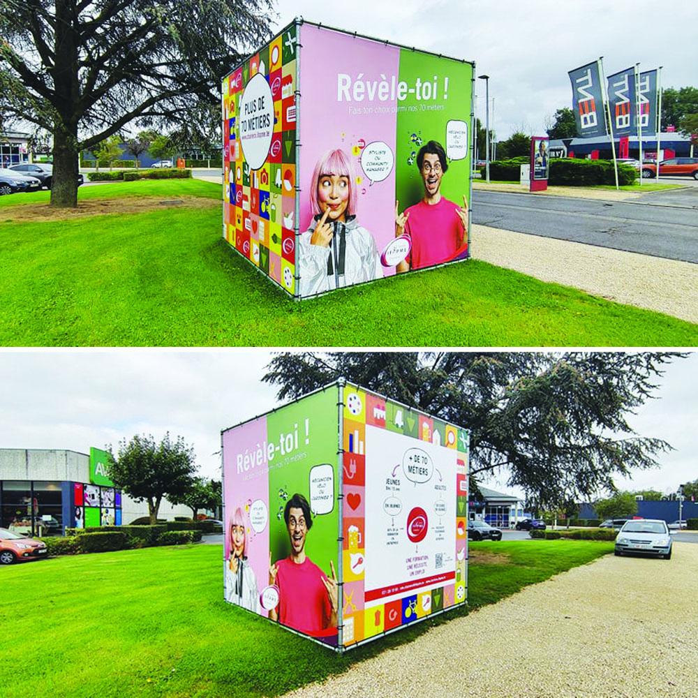 Campagne publicitaire IFAPME Charleroi par Hello Design